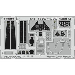 EDUARD FE969 Photo Etched 1/48 Hunter F.6 For Airfix