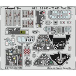 EDUARD SS653 Photo Etched 1/72 Tu-128M For Trumpeter