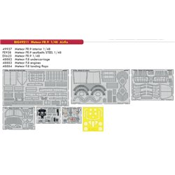 EDUARD BIG49211 1/48 Photo Etched Meteor FR.9 For Airfix
