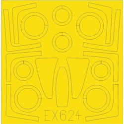 EDUARD EX624 1/48 Masking Tape F-14D For Tamiya