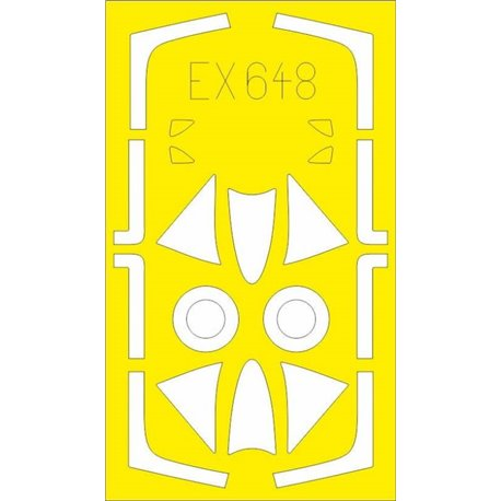 EDUARD EX648 1/48 Masking Tape Hawker Hunter F.6 T-Face For Airfix