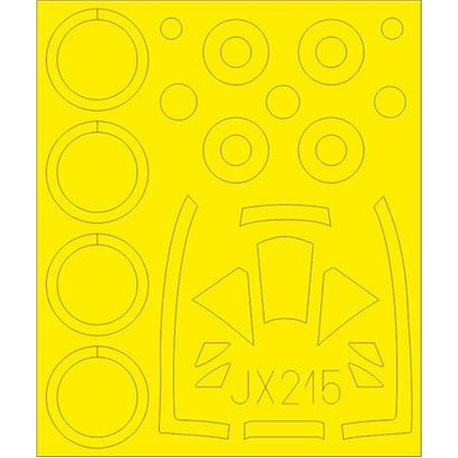 EDUARD JX215 1/32 Masking Tape Hawker Tempest Mk.VI For Special Hobby