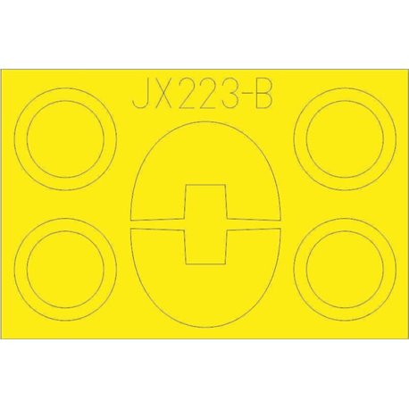 EDUARD JX223 1/32 Masking Tape TF-104G T Face For Italeri
