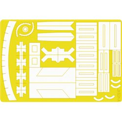 EDUARD JX501 1/32 Masking Tape F-4 Useful Areas For Tamiya
