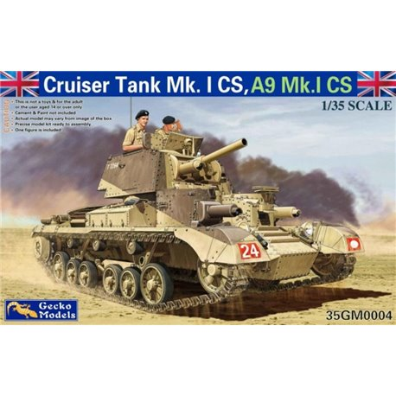 GECKO MODELS 35GM0004 1/35 Cruiser Tank Mk. I CS, A9 Mk.ICS