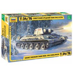 ZVEZDA 3689 1/35 Soviet Medium Tank T-34/76 1943 UZTM
