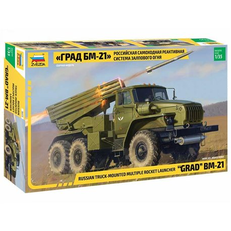 "ZVEZDA 3655 1/35 Multiple Rocket Launcher BM-21 ""Grad"""