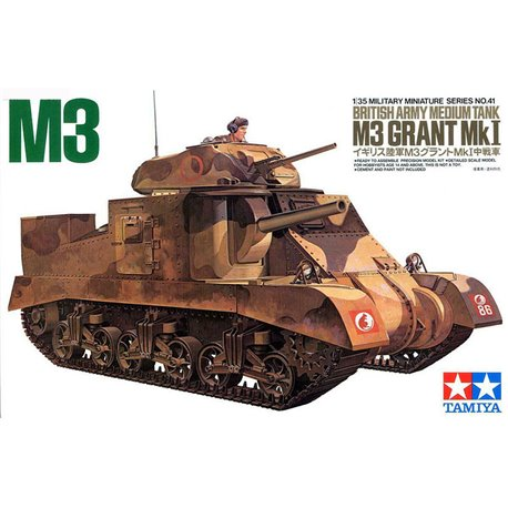 TAMIYA 35041 1/35 M3 Grant Mk. I - British Army Medium Tank