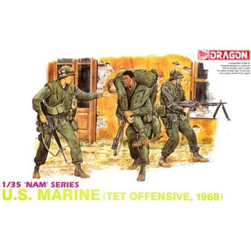 DRAGON 3305 1/35 'Nam' Series U.S. MARINE (TET OFFENSIVE, 1968)