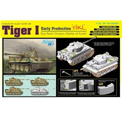 "DRAGON 6885 1/35 Tiger I Early Production ""TiKi"" Das Reich Division Kursk 1943"