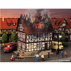 VOLLMER 43728 HO 1/87 House on Fire