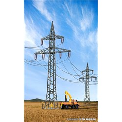 KIBRI 38533 HO1/87 Deco-set Pylônes Electrique - Power pole, 4 pieces