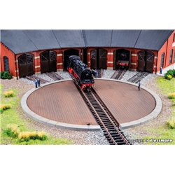 KIBRI 39456 HO1/87 Plateau Tournant Rotonde - Locomotive platform f