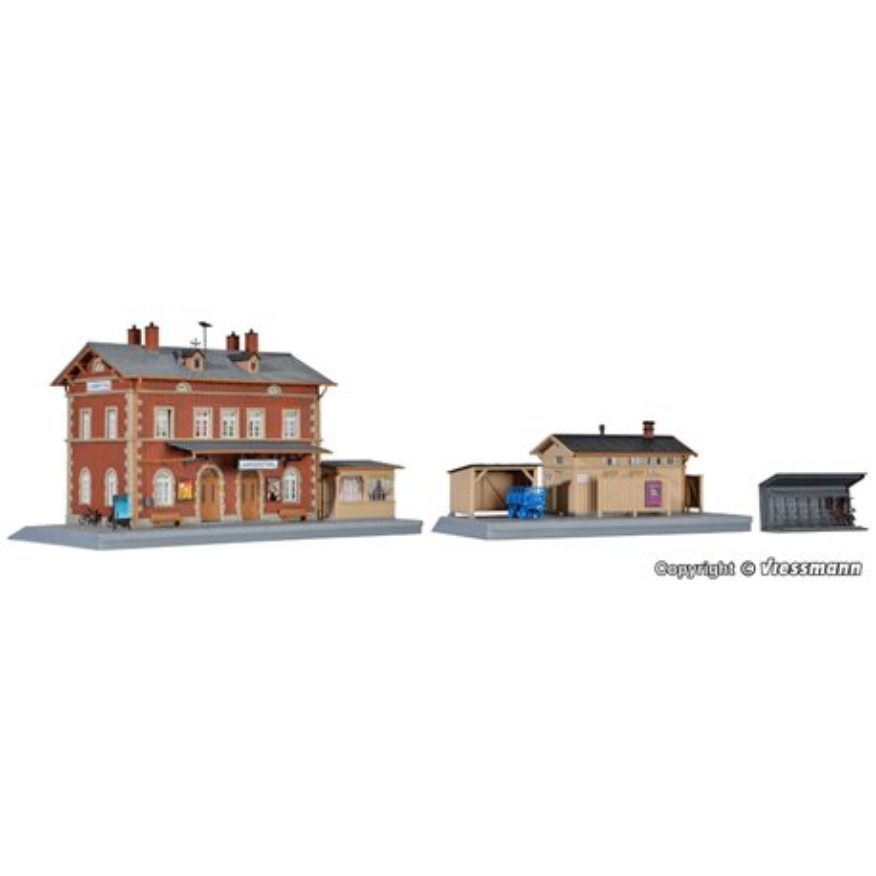 KIBRI 39504 HO1/87 Gare – Station Langenthal with annexes