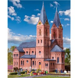 KIBRI 39760 HO1/87 Romanesque church in Jakobwüllesheim