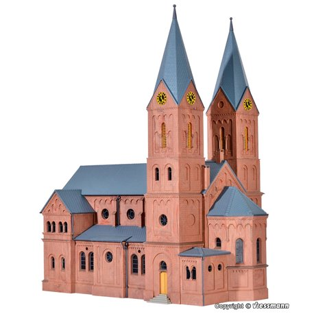 KIBRI 39760 HO1/87 Eglise Romane – Romanesque church in Jakobwüllesheim