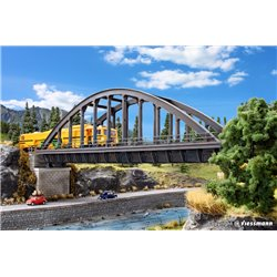 KIBRI 42553 HO1/87 Pont Arche en Acier – Steel arched bridge, straight