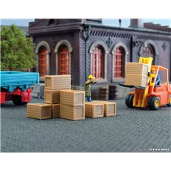 KIBRI 45242 HO1/87 Chargement de Caisses – Loading good crates, 10 pieces