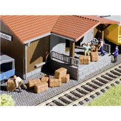 KIBRI 45243 HO1/87 Chargement de balots - Loading good raw material bales 10pcs