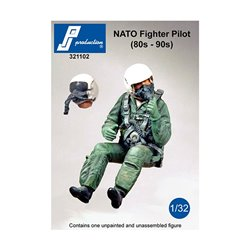 PJ Production 321102 1/32 NATO pilot seated in a/c (80' - 90')