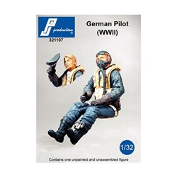 PJ Production 321107 1/32 German pilot seated in a/c (WW II)