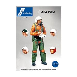 PJ Production 321116 1/32 Pilote F-104 debout