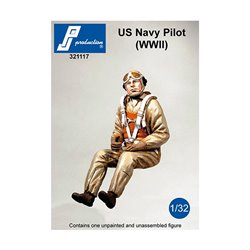 PJ Production 321117 1/32 US Navy pilot seated in a/c (WW2)