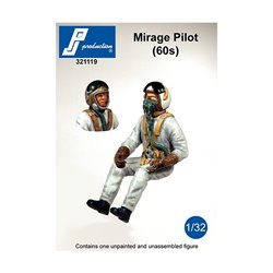 PJ Production 321119 1/32 Mirages Pilot of the 60's seated in a/c