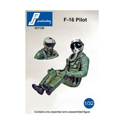 PJ Production 321120 1/32 F-16 Pilot seated in a/c