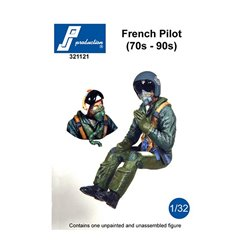 PJ Production 321121 1/32 French Pilot seated in a/c (70s-90s)