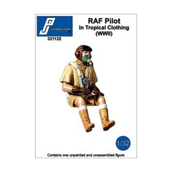 PJ Production 321122 1/32 Pilote RAF en tenue tropicale (2GM)