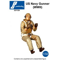 PJ Production 321124 1/32 US Navy Gunner (WWII)