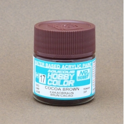 GUNZE Sangyo Mr Hobby Aqueous Color H17 Cocoa Brown - Brun Cacao