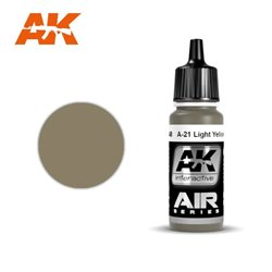 AK INTERACTIVE AK2248 A-21M JAUNE BRUN _ LIGHT YELLOWISH BROWN 17ml