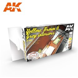 AK INTERACTIVE AK9020 YELLOW, BROWN & GREY INTERIORS
