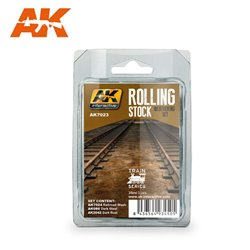 AK INTERACTIVE AK7023 ROLLING STOCK WEATHERING SET TRAIN SERIES