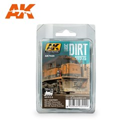 AK INTERACTIVE AK7020 BASIC DIRT EFFECTS WEATHERING SET TRAIN SERIES