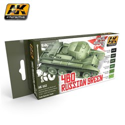 AK INTERACTIVE AK553 RUSSIAN GREEN MODULATION SET