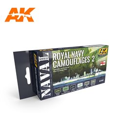 AK INTERACTIVE AK5040 ROYAL NAVY CAMOUFLAGES 2 – NAVAL SERIES SET