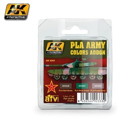 AK INTERACTIVE AK4260 PLA ARMY COLORS ADDON COLORS SET