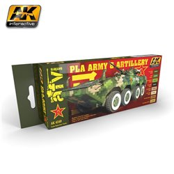 AK INTERACTIVE AK4240 PLA ARMY AND ARTILLERY COLORS SET