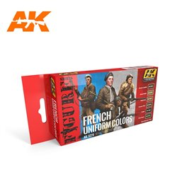 AK INTERACTIVE AK3270 FRENCH UNIFORM COLORS FIGURE SERIES SET