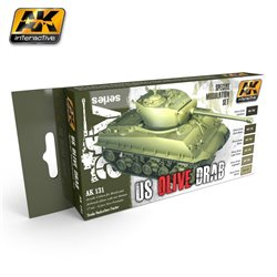 AK INTERACTIVE AK131 OLIVE DRAB MODULATION SET
