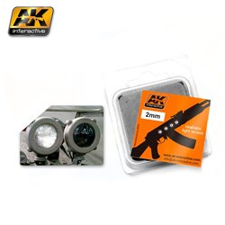 AK INTERACTIVE AK206 LENSES WHITE 2MM