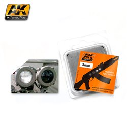 AK INTERACTIVE AK221 LENSES WHITE/BLACK 3MM