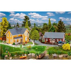 FALLER 130604 HO 1/87 2 Swedish houses