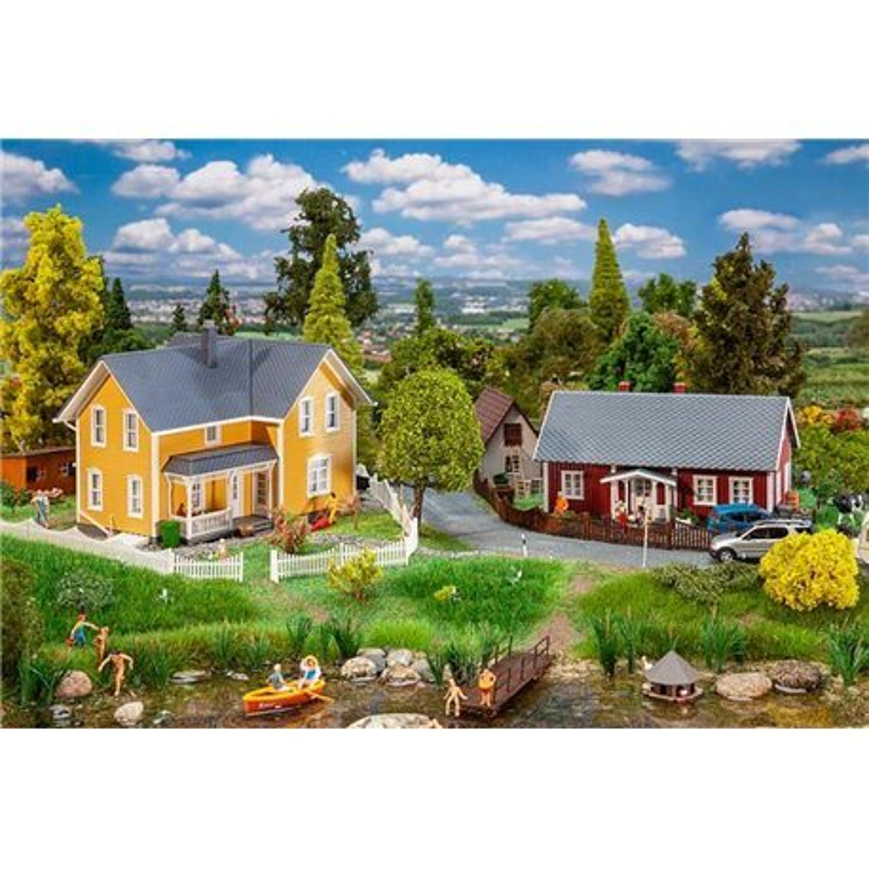 FALLER 130604 HO 1/87 2 Maisons suédoises - 2 Swedish houses