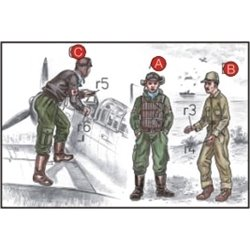 CMK F72043 1/72 Japanese Navy Pilots (2 fig.) And Mechanics WW II