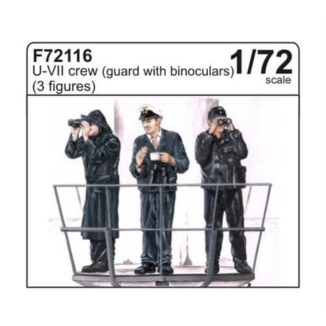 CMK F72116 1/72 U-VII crew (guard with binoculars) (3 fig.)