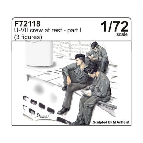 CMK F72118 1/72 U-VII crew at rest part I (3 fig.)